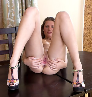 Horny Nubile Sabrina Bronstein finger bangs her wet pussy