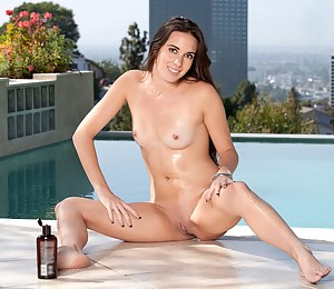 Bailey Bam strips off her bikini and plays with a vibrator poolside
