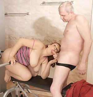 This old dude loves fucking younger girls
