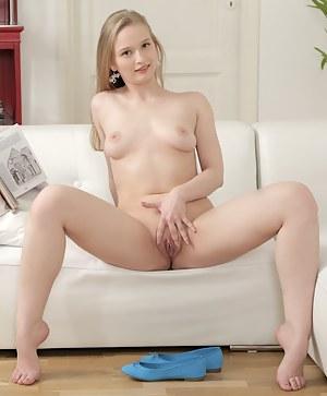 Gorgeous Inga gets naughty and masturbates after studying