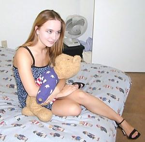 Naughty redhead models her favorite lingerie