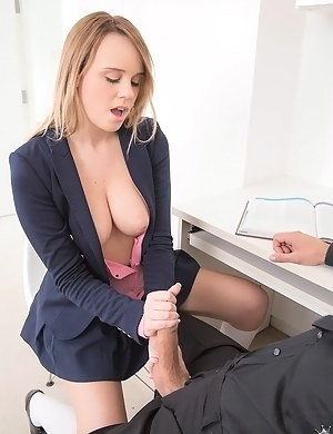 Busty young angel is enjoying amazingly wild sex with her partner. She is deeply in love with his penis and she is really great at riding this aggregate.