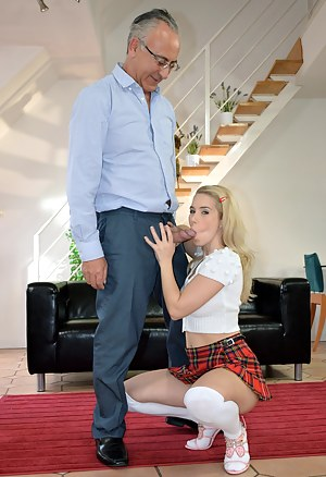 This schoolgirl gets a good pounding from our friend Jim